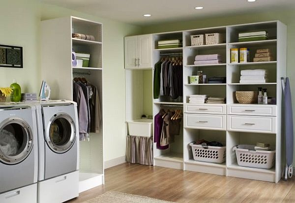 Laundry room shelving and storage ideas for Utility room shelving ideas
