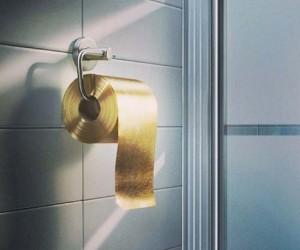 1.3M 22-karat gold toilet paper
