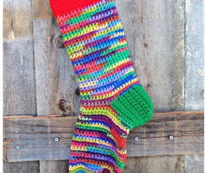 15 Adorable Crocheted Christmas Stocking Patterns