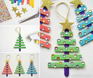 15 Cute Christmas Crafts Using Popsicle Sticks