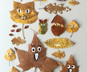 15 Kids Crafts Made with Leaves