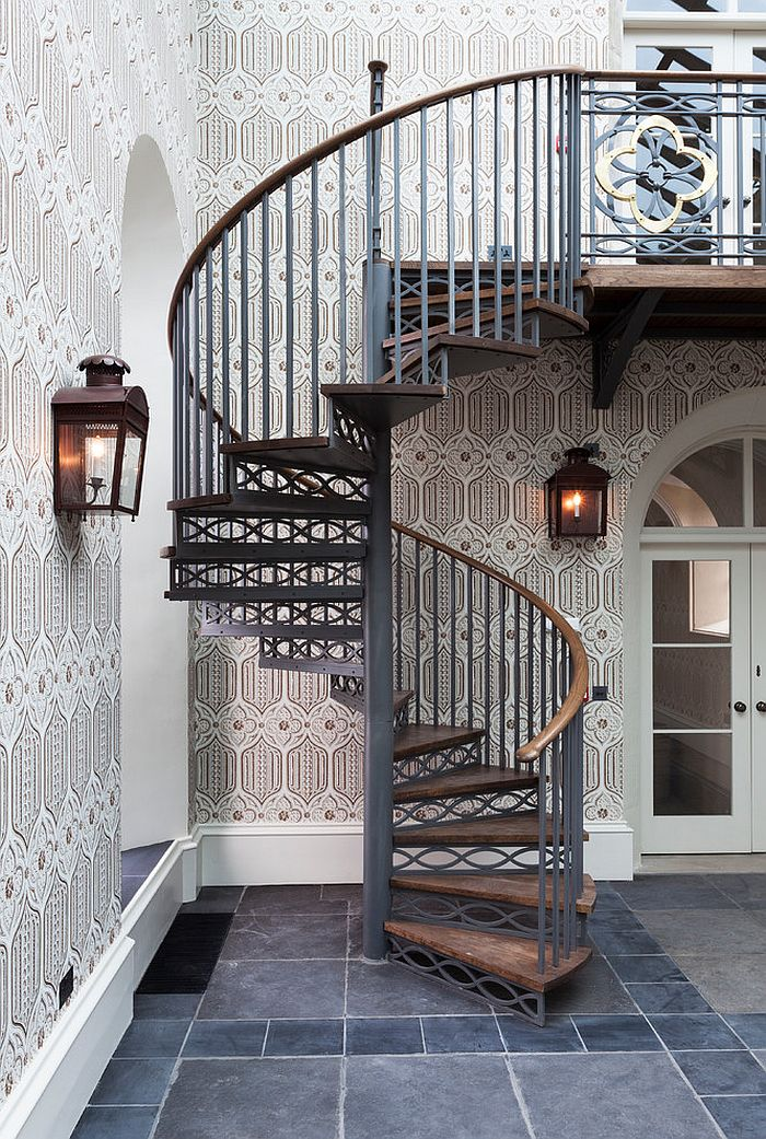 16 Fabulous Ideas That Bring Wallpaper to the Stairway | Home, We ...