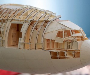 1:60 Scale Boeing 777 Built from Paper Manilla Folders