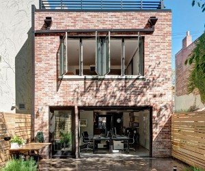 1890s Brooklyn Home with Brick Walls Gets a Modern Renovation