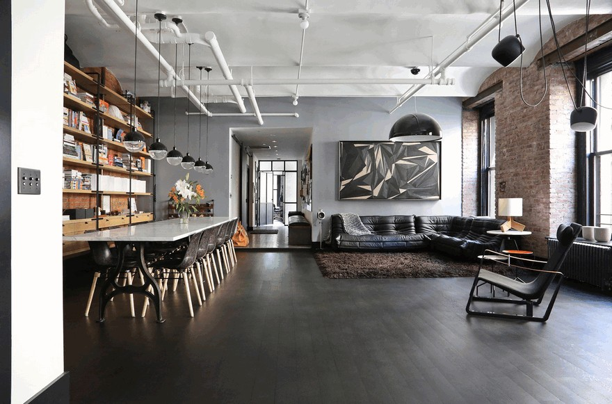 1903 Noho Factory Converted Into Industrial Loft Style Home