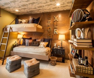 20 Rustic Kids Bedrooms with Creative, Cozy Elegance