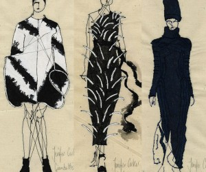2014 Runway Fashions Depicted In Embroidery