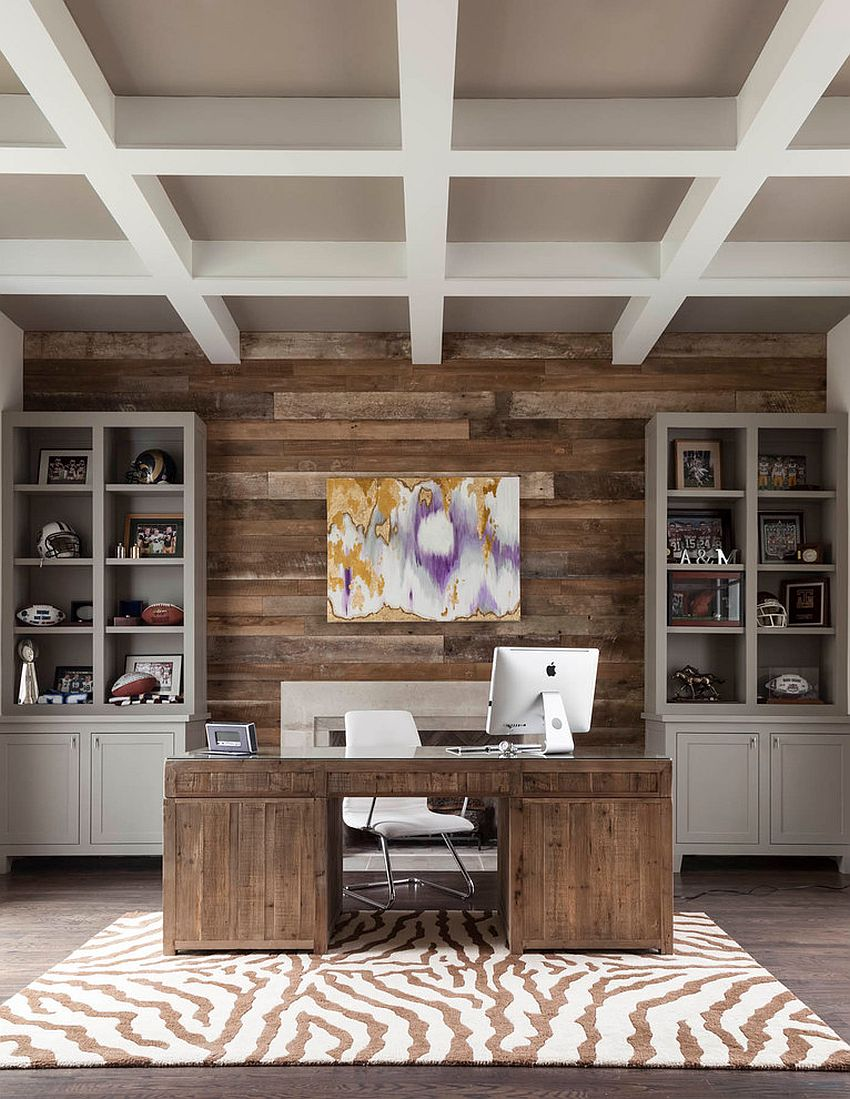 25 ingenious ways to bring reclaimed wood into your home for Modern accent decor
