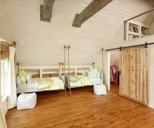 27 Creative Kids Rooms with Space-Savvy Sliding Barn Doors