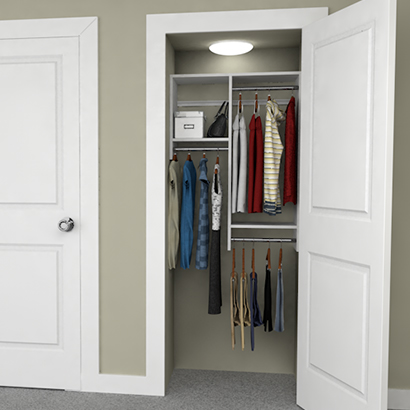 3 Design Ideas For 3 Foot Closets