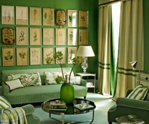 30 Green Inspiring Interiors