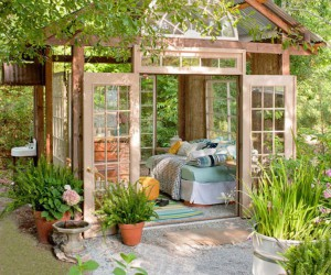 30 Wonderfully Inspiring She Shed Ideas For Your Backyard Getaway