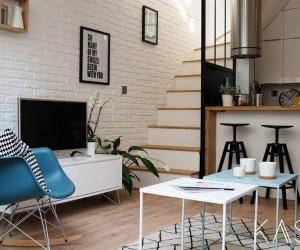 32 m2, a three-level loft in Saitn-Maur-Des-Fosses
