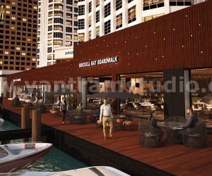 360 Panoramic Water side Restaurant Exterior  Interior View of Virtual Reality Real Estate Companies by Architectural Modeling Firm, New York - USA