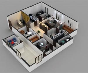 3D Architectural Floor Plan Design