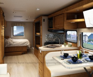3D Architectural Visualization for a Motorhome