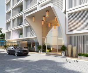 3D Commercial Building Architectural Design