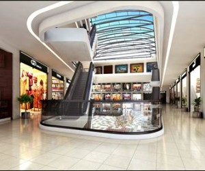 3D Commercial Shopping Mall Interior Design