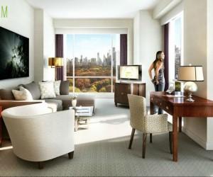 3D Elegant Interior Living Room Design View