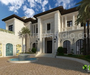 3D Exterior Design Rendering For Modern Home