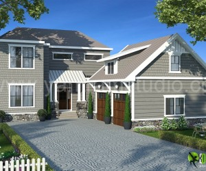 3D Exterior Rendering Home Design
