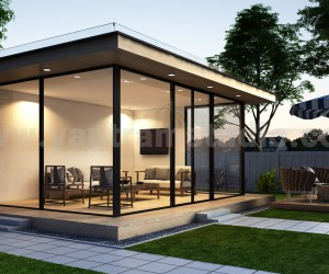 3d exterior rendering services and 3d animation showroom for a commercial space by architectural design studio, New York  USA