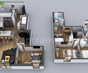 3D Home Floor Plan Designs By Yantram floor plan designer - Washington, USA