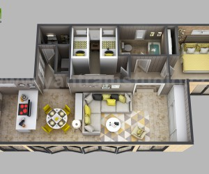3d House Floor plan Designs, ideas, Images By Yantram 3d animation studio - Atlanta, USA