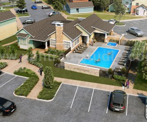3D Interior  Exterior Rendering Design with Pool  parking area by Yantram 3D Architectural Design, Sydney  Australia