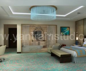 3D Interior Cgi Design for Hotel Room