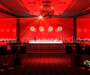 3D Interior Design Rendering For Bar