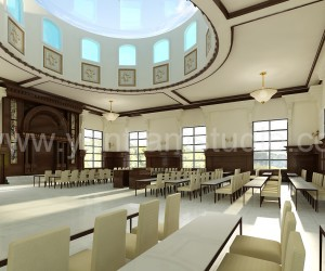 3D Interior Design Rendering For Community Hall