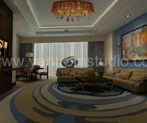 3D Interior Design Rendering For Hotel Room