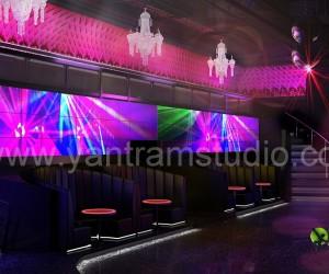 3D Interior Design Rendering For Modern Bar