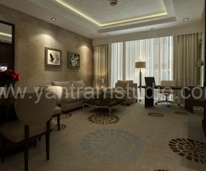 3D Interior Design Rendering For Modern Hotel Room