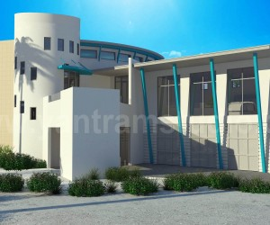3D Luxurious Home Exterior Design Rendering