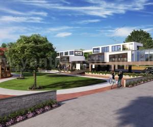 3D Modern Exterior Of Community House Developed by Yantram Architectural Visualization Company, Bern - UK