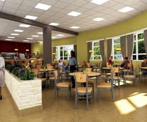 3D Modern Hospital Lobby Interior Design View