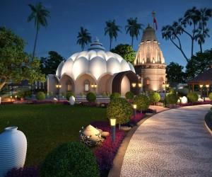 3D Modern Temple Exterior Design