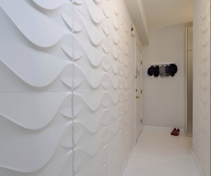 3dboard, 3D wall panel in Shanghai apartment designed by Enrico