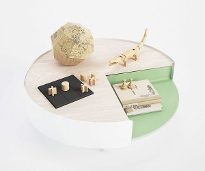 4 Times the action Contemporary coffee table from Polit