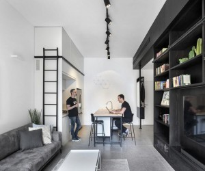 44 sqm Apartment Refurbished in Tel Aviv by XS Studio for Compact Design