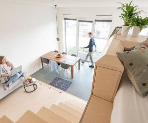45 sqm Apartment in Amsterdam with Space-Savvy Birch and Corian Interiors