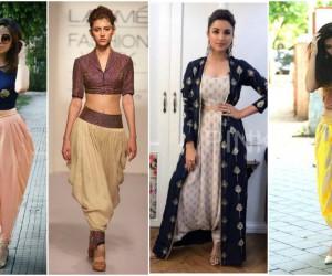5 ways to wear dhoti skirt