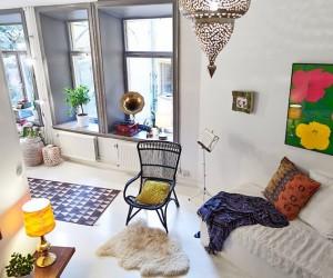50 sqm studio with an unique bedroom