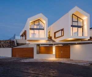 A Birds-Eye View of Budapest: Hilltop House with Twin Gable Roofs