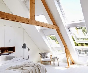 A bright & cozy attic bedroom