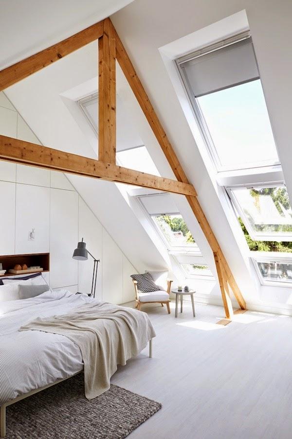 A bright & cozy attic bedroom
