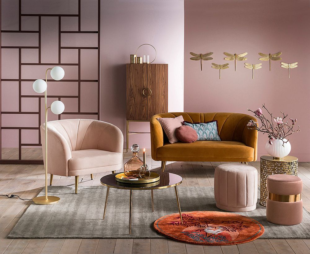 A Color Surprise: Beautiful Pink Living Room Ideas that ...