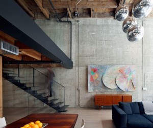 A Complete Reconfiguration of a Loft Apartment